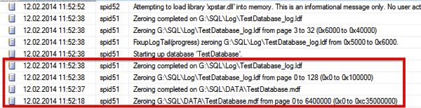 Data & Log Initialization