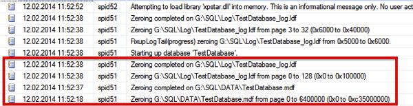 Data & Log Initialization