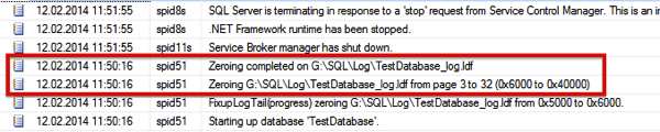Log Initialization