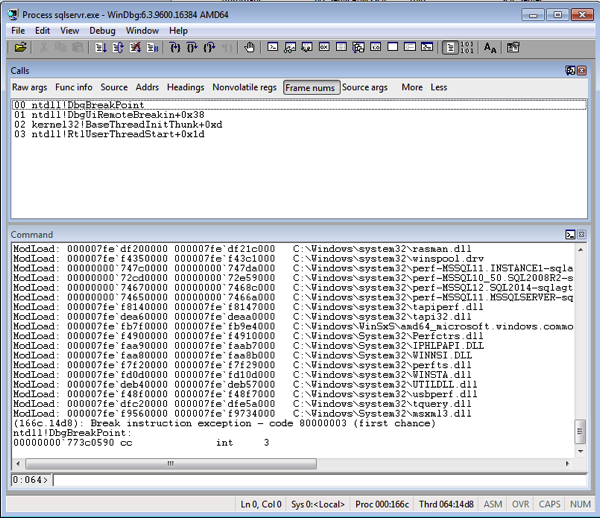 SQL Server Debugging with WinDbg – an Introduction |