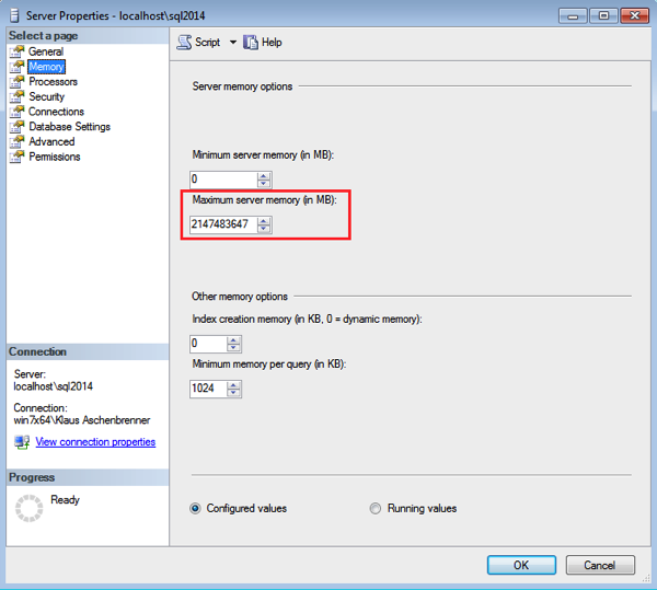 The Maximum Server Memory Setting is by default always configured wrong!
