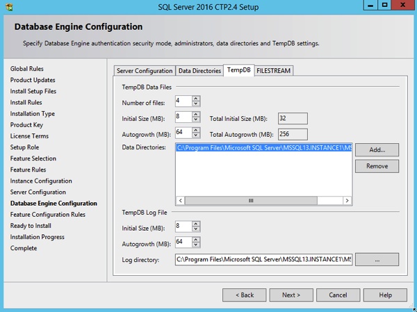 You can specify now multiple TempDb data files during the installation