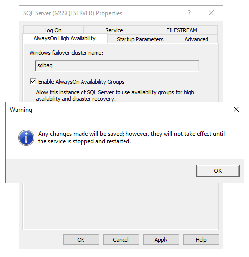 Enabling SQL Server Availability Groups