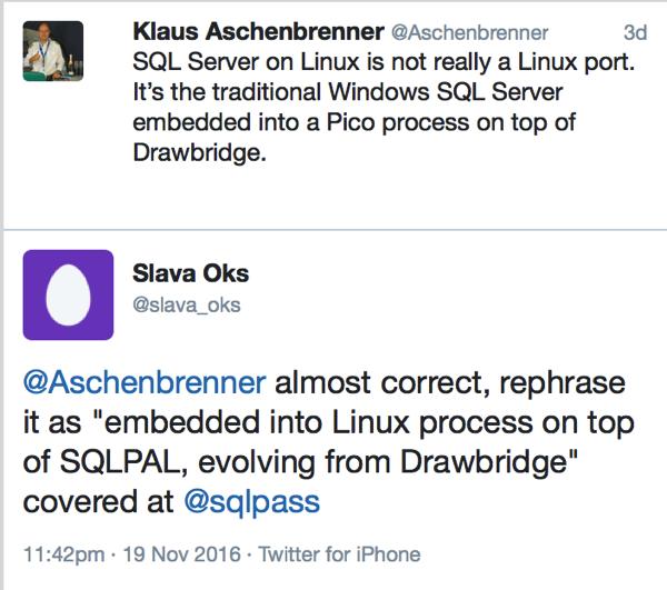 Slava Oks explains the architecture of SQL Server on Linux to me