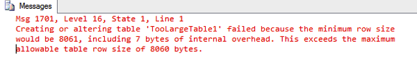 SQL Server can't create a table...