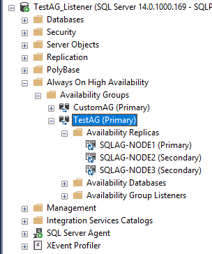 Running a SQL Server Availability Group