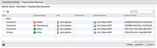 Reconfiguring vSAN Datastore Components