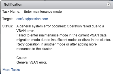 I have one ESXi Host too less!