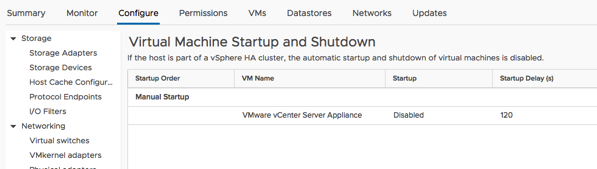 The old VCSA was also started!