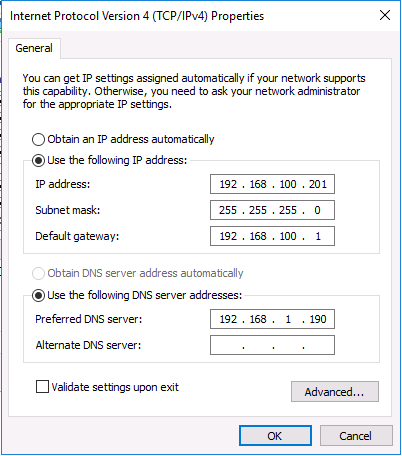 Changing an IP address