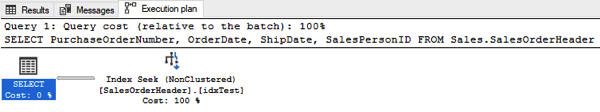 The Filtered Non-Clustered Index was chosen in the Execution Plan