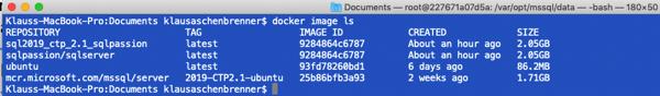 Your custom built Docker Image