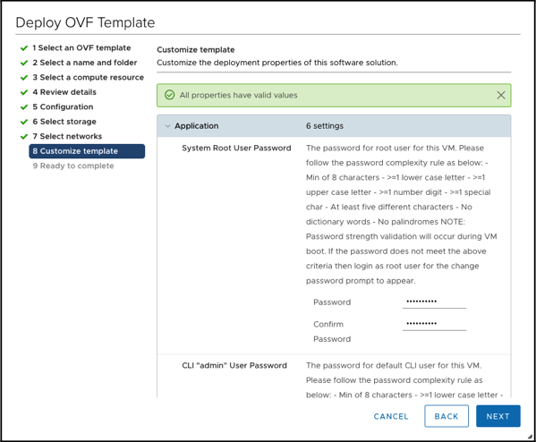 Customizing the template for the NSX-T Manager