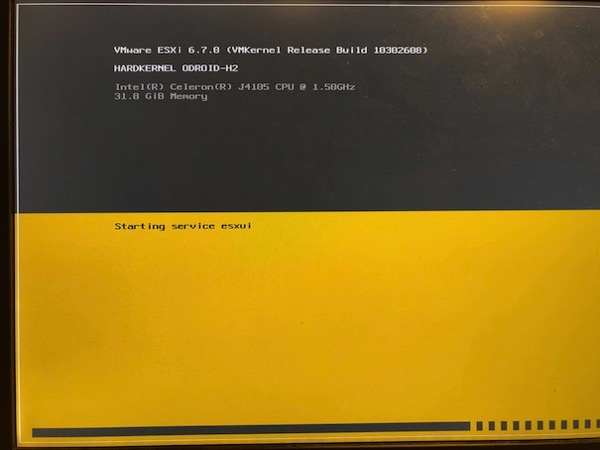 Let's install VMware ESXi on the Odroid-H2