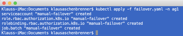 Performing the Availability Group Failover in Kubernetes
