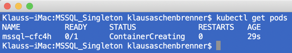 The deleted Kubernetes Pod is recreated