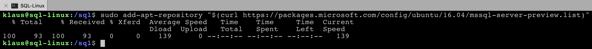 Adding the repository for SQL Server 2019