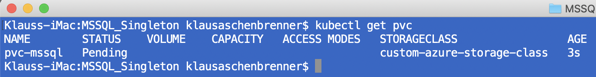 Getting the Persistent Volume Claims of the Kubernetes Cluster