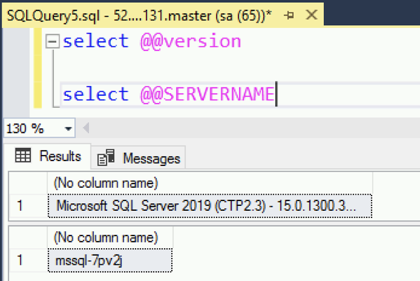Accessing our single instance SQL Server
