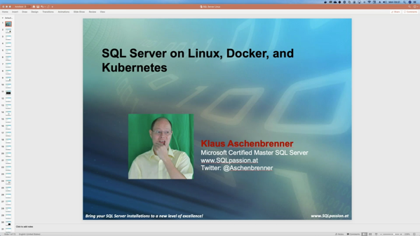 SQL Server on Linux, Docker, and Kubernetes