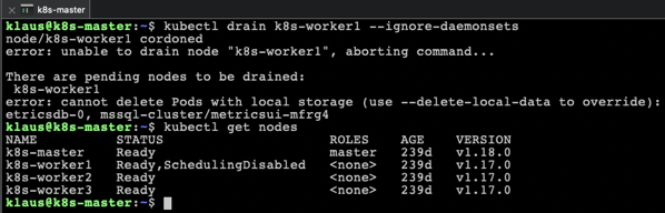 Draining the Worker Node