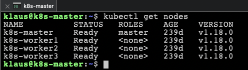 The whole Kubernetes Cluster is upgraded to v1.18