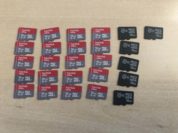 Flashing some SD cards...