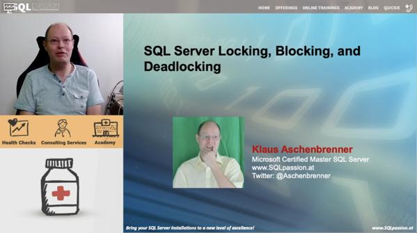 SQLServer Locking, Blocking, and Deadlocking